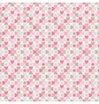 Floral seamless pattern Red pink gray brown and vector image vector image