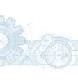 gear draft background vector image