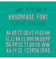 Handmade retro alphabet vector image vector image
