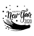 happy new year 2020 greeting card vector image vector image