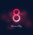 happy womens day dark beautiful background vector image vector image
