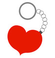 heart keychain on white background vector image