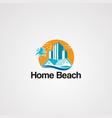 home beach logo icon elementand template for vector image vector image