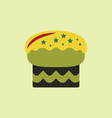 in flat style delicious cake vector image vector image