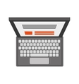 laptop topview icon vector image vector image
