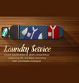 laundry service design with ironing board vector image vector image