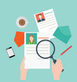 magnifying glass searching business people2 vector image vector image