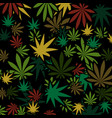 marijuana and cannabis background vector image vector image