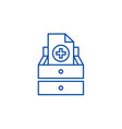 medical tests line icon concept medical tests vector image
