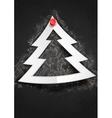 Merry Christmas Stylish Tree vector image vector image