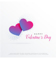 modern valentines day greeting design with two vector image vector image