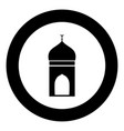 mosque icon black color in circle vector image