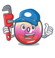 plumber jelly ring candy mascot cartoon vector image