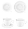 porcelain cups vector image
