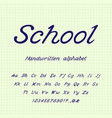 school handwritten alphabet vector image