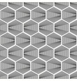 seamless halftone grey hexagon pattern vector image