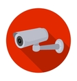 Security camera icon in flat style isolated on vector image vector image