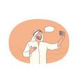 selfie smartphone blogger vector image vector image