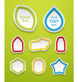 set creative icons vector image vector image