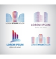 set line building logos icons vector image vector image