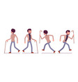 set of dandy in walking and running poses rear vector image vector image