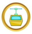 Ski lift gondola icon vector image