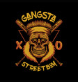 skull gangsta street boy vector image vector image