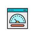 speed hosting fast server flat color line icon vector image