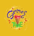 summer time slogan print with matermelon vector image