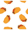 tacos cartoon seamless pattern on white vector image
