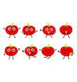tomato cartoon character vector image vector image