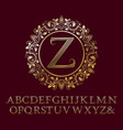 stripy gold letters with z initial monogram vector image