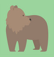 brown bear funny happy animal cartoon vector image