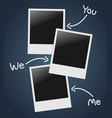 Empty photos template vector image