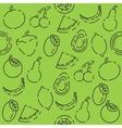 Fruits set pattern vector image