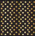 seamless pattern with golden stars on black vector image