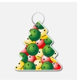 small tree with handle and smileys with emotions vector image