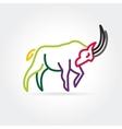2015 goat symbol isolated on white background vector image