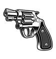 a black and white a short revolver gun vector image