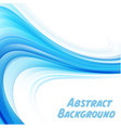 abstract blue line color white background i vector image
