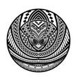 abstract polynesian tattoo circle design vector image vector image