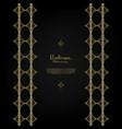 arabesque islamic pattern gold flower background vector image vector image