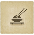 Asian food old background vector image vector image