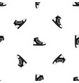 athletic shoe pattern seamless black vector image vector image