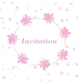 Background for invitation cart with flowers lotus vector image vector image