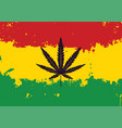 banner for legalize marijuana with rasta flag vector image vector image