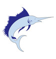 big marlin on white background vector image vector image