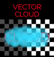 blue cloud cloud vector image