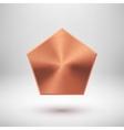 Bronze Abstract polygon Button Template vector image