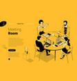 business communication in modern office vector image vector image